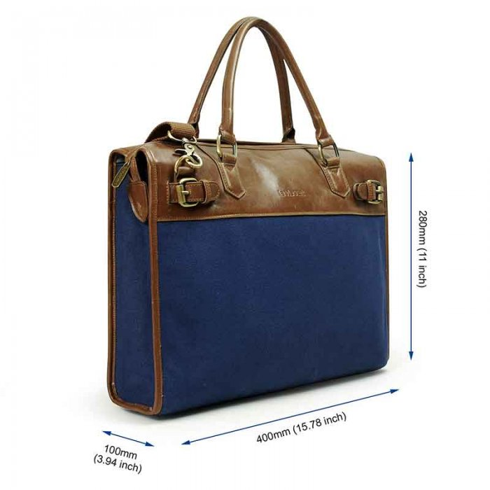 "Lavievert Blue Shoulder Bag Handbag for Up to 15.6"" Laptop"
