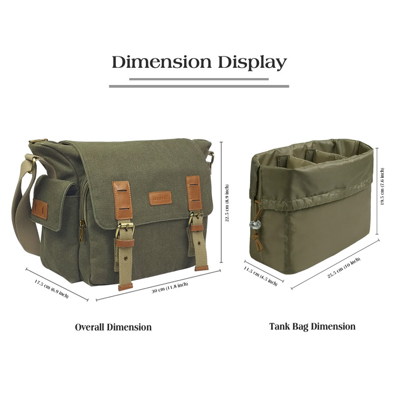 Camera Shoulder Bag - Green