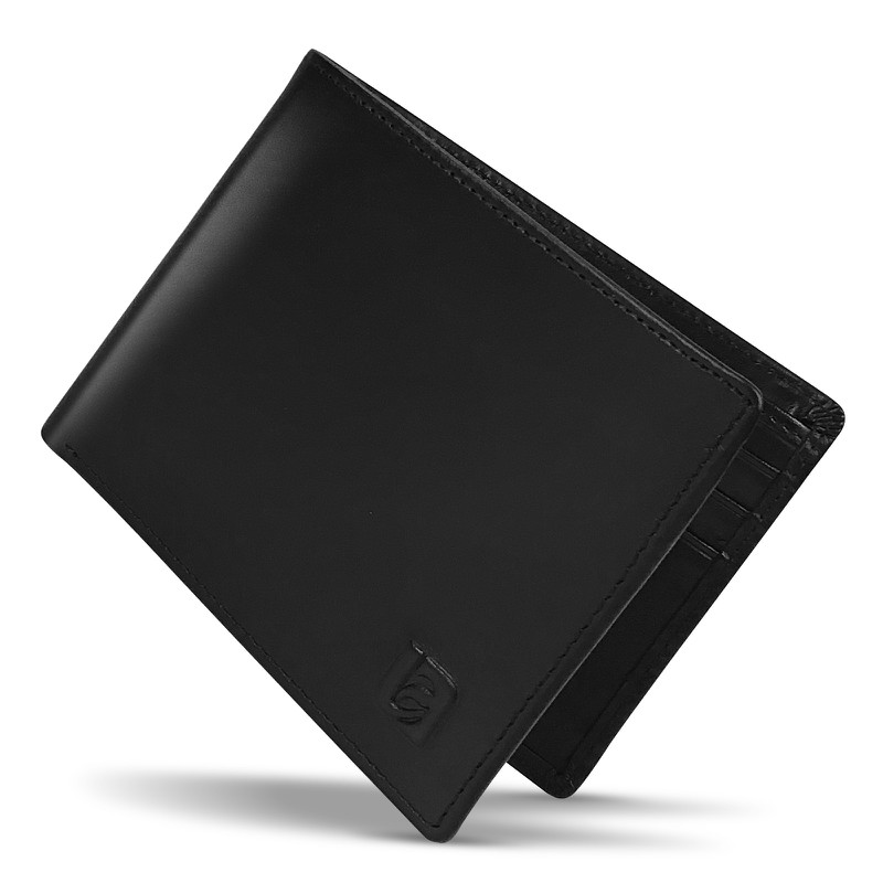 Mens Black RFID Blocking Bifold Wallet